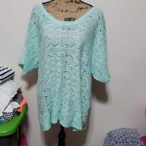 Maurices size 3 mint short sleeved knit top